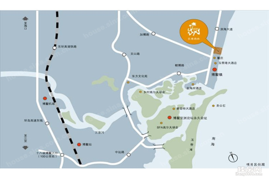 博鳌长滩雨林位置图
